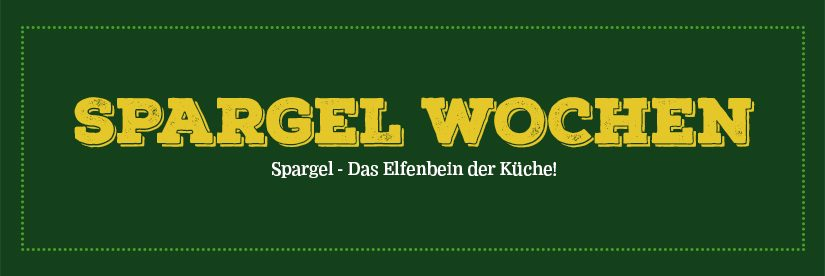 Spargelwochen ab 23. April 2018