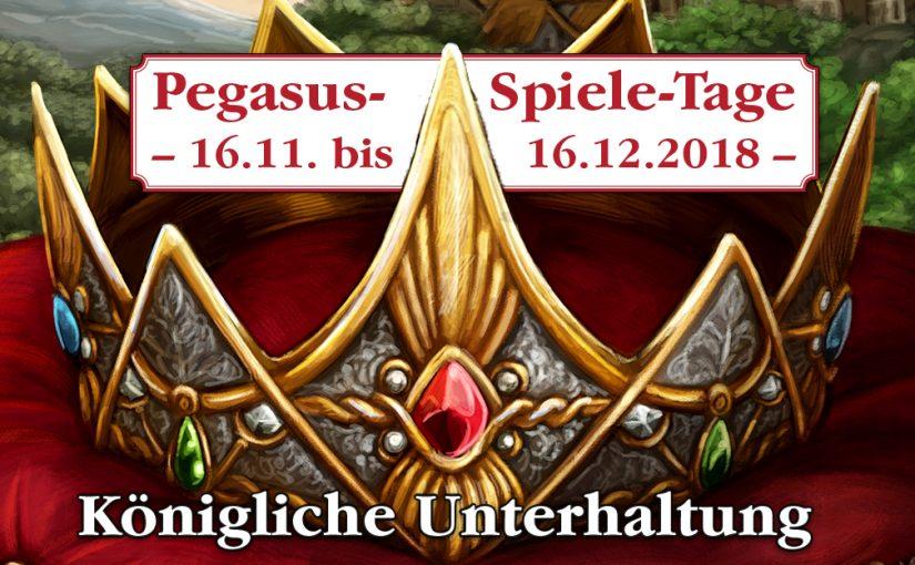 Pegasus-Spiele-Tag am Samastag den 24. November